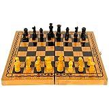 Dixon CHSS Wood Chess Board Set, Large (Multicolor)