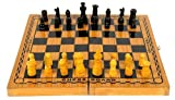 Dixon CHSS Wood Chess Board Set, Large (Multicolor)