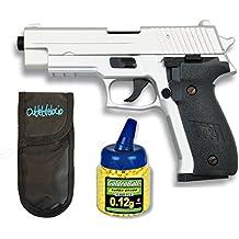 Pack Pistola airsoft Cyma metálica. Calibre 6mm. + 1000 Bolas + Funda Portabolas. 50489/21993/23054