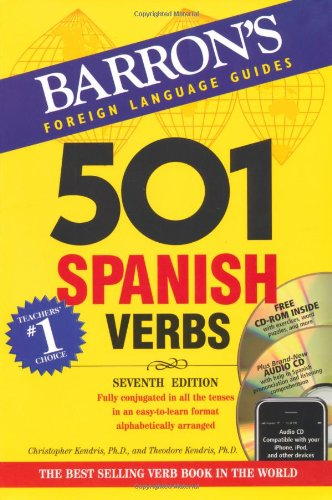 501 Spanish Verbs: 7th Ed W/CD ROM and Audio CD Pkg (501 Verbs) por Christopher Kendris