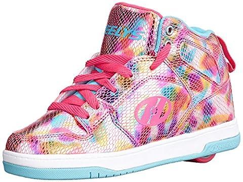 Heelys Flash 2.0, Chaussures de Tennis Fille, Rose (Snake Pink Metalic), 38 EU