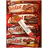 Slimfast Meal Replacement Diet Snack Bars Heavenly Chocolate Caramel and Nutty Nougat Ultimate Variety Box 24 Bars 8 each Flavour Less than 100 Calories a Bar