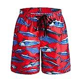 QRANSS-Garçon Shorts de bain Holiday Casual Board swimwear