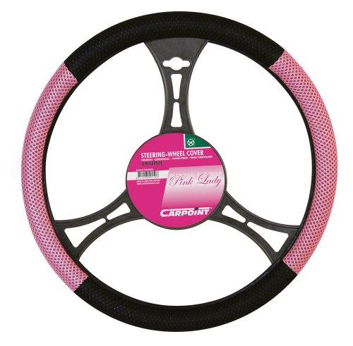 CARPOINT 2510044 Lenkradhülle schwarz/rosa