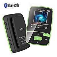 CFZC Bluetooth Clip 8GB MP3 Player Sport MP4 Lossless Sound Music Player with FM Pedometer-Expandable Green