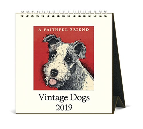 Cavallini Papers & Co. Vintage Hunde Kalender, Multicolor
