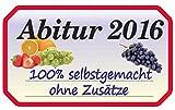 1art1 80618 Schule - Abitur 2016, Eingemachtes Aufkleber Poster-Sticker Für Fenster 35 x 20 cm
