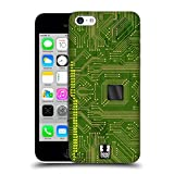 Head Case Designs Gelb Grün Leiterplatten Ruckseite Hülle für Apple iPhone 5c