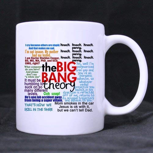 LUOBOGAN The Big BANG Theory Quotes Ceramic White Mug,Funny Quotes Coffee Mug,Coffee/Tea Drinking Cup with Handle.(11 Oz) (Two Sides) (Theory Halloween The Big Bang)