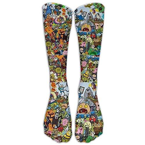 Adventure Mädchen Kostüm Time - Gped Kniestrümpfe,Socken Long Adventure Time Socks Women's Winter Vintage Cotton Wool Knit Long Crew Socks Length 50CM