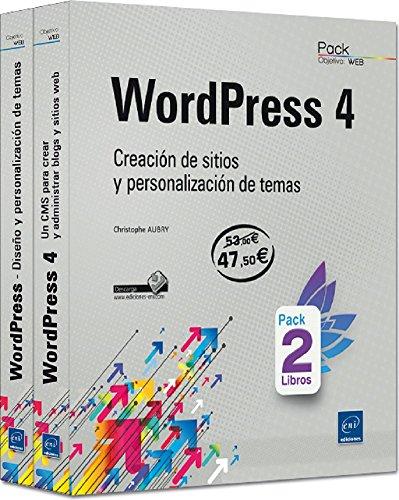 Pack De 2 Libros: WordPress 4. Creación De Sitios Y Personalización De Temas