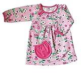 JNY Colourful Kids - Baby Mädchen Body-Kleid = Body und Kleid in einem - MARIENKÄFER in rosa - Bio-Baumwollle Größe 62