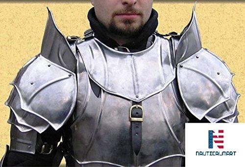 Armour Mittelalter Pauldron SCA Schultern Guard tragbar Kostüm (Nautische Kostüm)