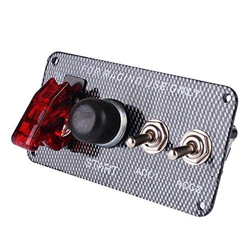 JINXL Encendido del automóvil Interruptor de apagado 3 vías 1 Botón de...