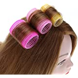 FOK Set Of 6Pc Self Grip Hair Roller Curler Hair Styling Dressing DIY Curling Tool Hair Accessory Styler For Home...