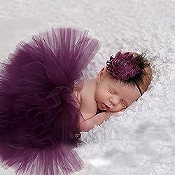 merssavo mignon nouveau-né bébé Tutu Jupe et fleur de bandeau photo Prop Costume Outfit