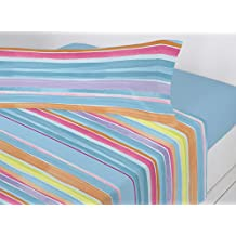 Juego sábanas pirineo TEJADA Antonella. Cama de 90 cm. Color Azul - Sedalinne