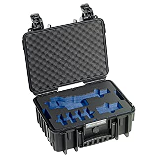 B&W outdoor.cases Type 3000 2 Layer Outdoor Case with Foam Insert for DJI Osmo Gimbal and Accessories - Black