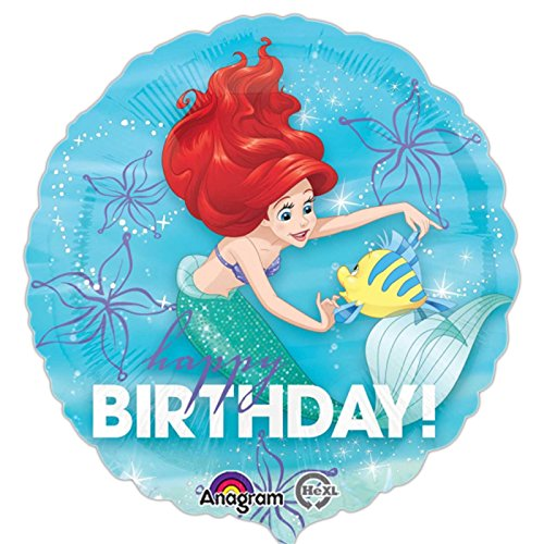 Amscan International 8.619.492,5 cm Ariel Geburtstag Dream Big Standard Folie Ballon (Ariel Container)