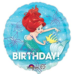 "Amscan International-3393501""Ariel Cumpleaños Dream Big"" estándar Foil Balloon"