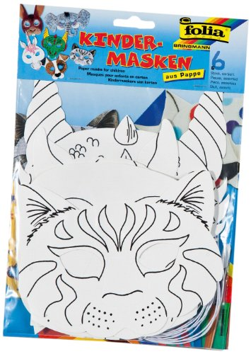 Folia 23209 - Kindermasken aus Pappe, 6 Stück (Party Masken Kinder)