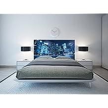 cabecero cama pvc nocturno urbano varias medidas xcm facil colocacion decoracion habitacin