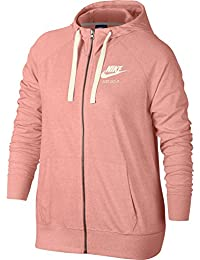 Nike Sportswear Gym Vintage Short, Mujer, 883729-697, Bleached Coral/(Sail), Small