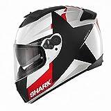 Shark SPEED-R MXV TEXAS White Black Red SPEED-R Integralhelm schwarz weiß rot (M)