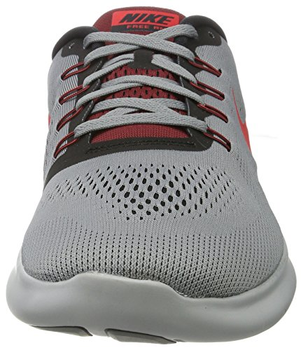 Nike Free Rn, Chaussures de Running Homme Gris (Cool Grey/actn Rd-black-tm Rd)