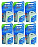 Oral-B Ultra Floss Mint 25 m No-Wax (Pack of 6) (Zahnseide)