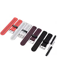 XCSOURCE 4pcs Farbige Ersatz Armband mit Metall Verschlüsse für Garmin Forerunner 230/235/630 (keine Tracker, Ersatzbänder nur) TH470
