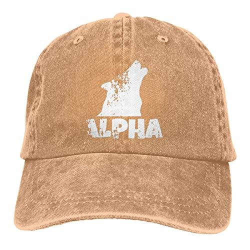 Alpha Lone Wolf Retro Adjustable Cowboy Denim Hat Unisex Hip Hop Black Baseball Caps