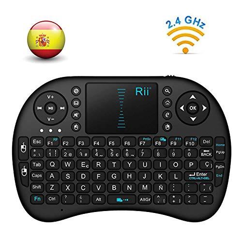 Rii Mini i8 - Teclado ergonómico touchpad RF 2.4