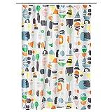 SIU Duschvorhang, Mehrfarbig, montiert, Größe: 180 cm lang, 180 cm breit, Materialien: 100% Polyester