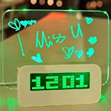 Krismile?New design 5 LED Message Board With Highlighter Digital Alarm Clock With 4 Port USB Hub(Green) by Krismile