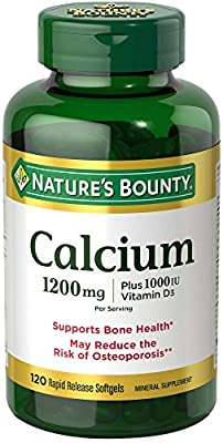 Nature's Bounty Nature's Bounty Calcium Plus Vitamin D3, 100 caps 1200 mg by Natures Bounty