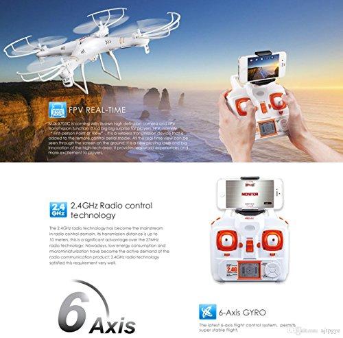 s-idee 01520 Quadrocopter MJX X705C Wifi HD Kamera MJX C4010 in 720p High Definition mit Tonaufzeichnung, 2.4 GHz, 4-Kanal, 6-AXIS Stabilization System - 2
