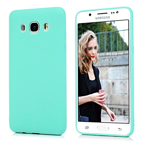 Funda Samsung Galaxy J510,Carcasa Samsung J5 2016 Silicona Gel, OUJD Mate Case Ultra Delgado TPU Goma Flexible Cover para Samsung Galaxy J510/J5 2016 - Azul cielo