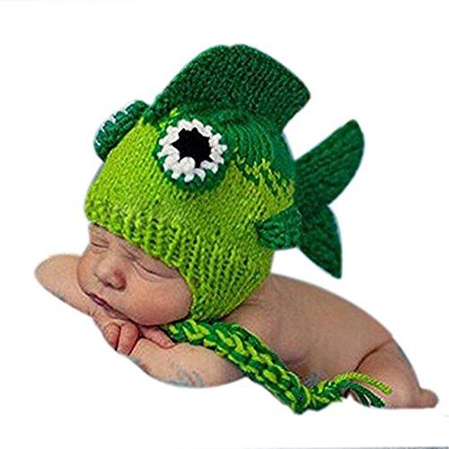Handgefertigt Infant Newborn Baby Mädchen Boy Crochet Knit Hat Kopfschmuck Fotografie Requisiten OUTFITS Kostüm Kleine Fische Hat Kappen