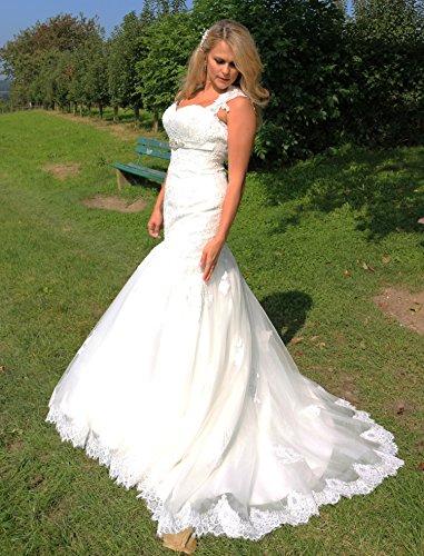 Luxus Brautkleid Hochzeitskleid Spitze // Meerjungfrau // Herzausschnitt - 4