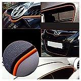 Auto Innenraum Zierleiste - TOOGOO(R) Eine Packung 3m Leuchtender Koerper Innendekoration Streifen Orange