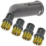Spares2go vapor detalle Attachment + alambre boquilla brochas para Karcher Limpiadores de vapor