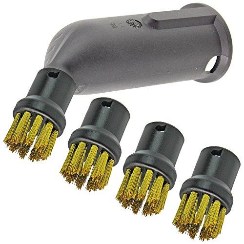 Spares2go – Dampfreiniger-Detail-Aufsatz, Drahtbürstendüsen für Kärcher-Dampfreiniger