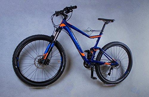 trelixx Fahrrad Wandhalterung für Mountainbike gelaserte Version aus Plexiglas® Acrylglas, platzsparende Fahrradaufbewahrung, Design Radhalter Wandmontage