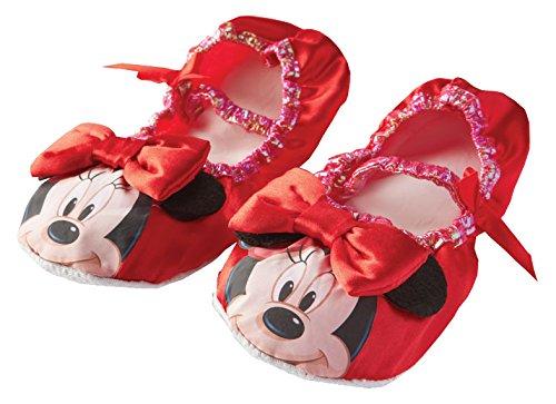 Rubie 's OFFIZIELLER Minnie Mouse Hausschuhe, Kind Kostüm–One Size, Pink (Minnie Maus Kostüm Schuhe)