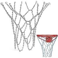 Schneespitze Basket Ball Net Red de Baloncesto de Acero galvanizado Cadena Baloncesto para Interior y Exterior(Sin Aro)