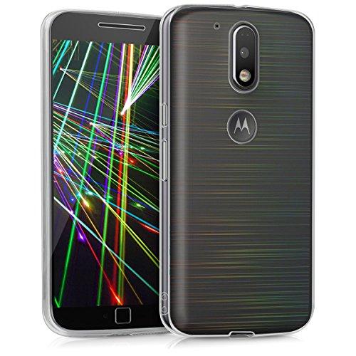 kwmobile Cover per Motorola Moto G4 / Moto G4 Plus - Custodia in TPU Silicone per Cellulare Motorola Moto G4 / Moto G4 Plus Trasparente
