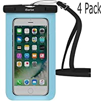 Waterproof Case,iBarbe Universal Cell Phone Dry Bag Pouch Underwater Cover for Apple iPhone 7 7 plus 6S 6 6S Plus SE 5S 5c samsung galaxy Note 5 s8 s8 plus S7 S6 Edge s5 etc.to 5.7 inch,Black