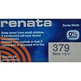 Renata 379 Mercury Free 1.55 Volt Watch Battery Replaces SR521SW