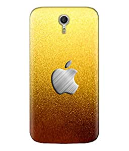 Lenovo Zuk Z1 Golden Apple logo Design Printed Back Cover Hybrid Strong Polycarbonate Hard Case Cover With Premium Quality and Matte Finish by Print Vale
